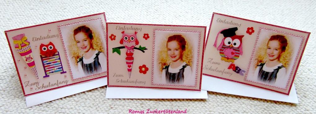 romys zuckertütenland- individuell gefertigte zuckertüten und, Einladung